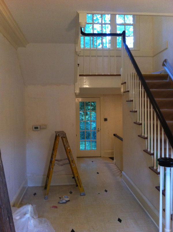 Foyer Art Jobs : Hang wallpaper in stairway foyer henderson