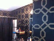 New Wallpaper in Master Bathroom