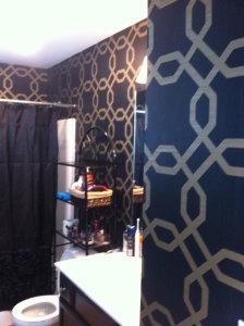 New Wallpaper in Master Bath