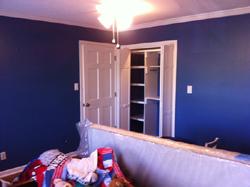 Blue Bedroom Repaint